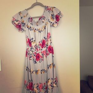 Old navy off the shoulder floral dress.